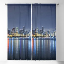 Chicago Blues Blackout Curtain