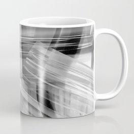 Tartan Cliffs -- grayscale Coffee Mug