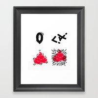 no dumping Framed Art Print