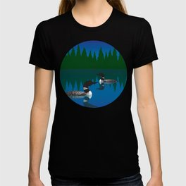 Loons in a Woodland Lake T-shirt