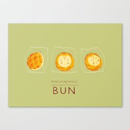 Porcupineapple Bun Canvas Print