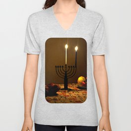 First Candle Unisex V-Neck