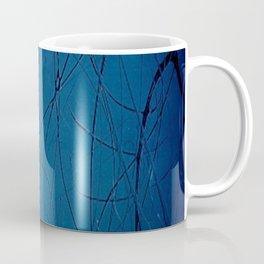 Navy Blue - Jackson Pollock Style - Modern Art Coffee Mug