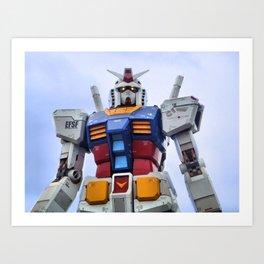 Gundam Stare Art Print