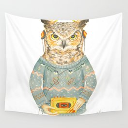 Feathers & Tunes Wall Tapestry