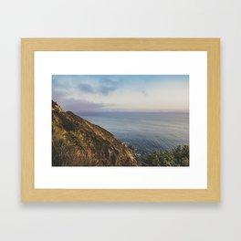 Ocean Side Sunset Framed Art Print