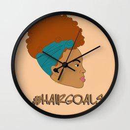Hair Goals #2 Wall Clock