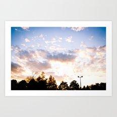 When the sun goes down Art Print
