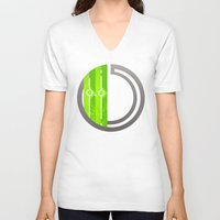 lime V-neck T-shirts featuring Lime by Ryukaza