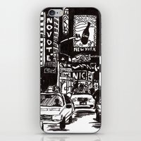 new york iPhone & iPod Skins featuring New York New York by Bianca Green