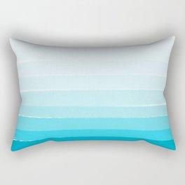Isla - Ombre Brushstroke - Blue Turquoise, Bright, Summer, Tropical, Beach Ocean Rectangular Pillow