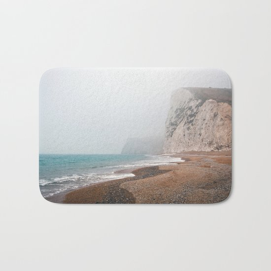 Dreary Beach Bath Mat