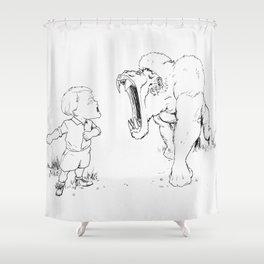 'Feeling Brave' Shower Curtain