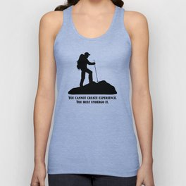 Albert Camus - You Cannot Create Experience Unisex Tank Top