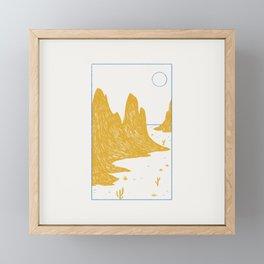 simple desert I Framed Mini Art Print