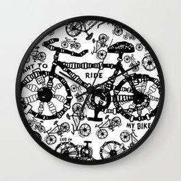 I Want To Ride My Bike Wall Clock