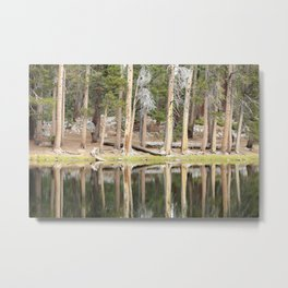 High Country Mirror Metal Print
