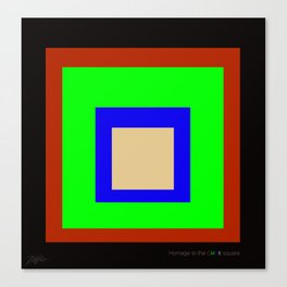 homage to the CMYK square. Canvas Print