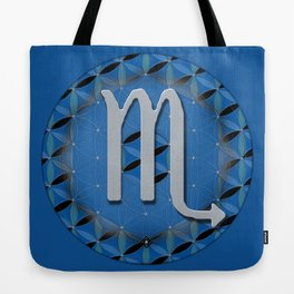 SCORPIO Flower of Life Astrology Design Tote Bag