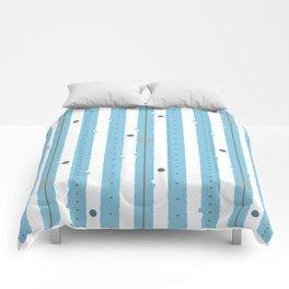 Blue Stripes Comforters