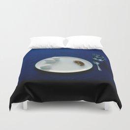Breakfast in Blue Duvet Cover