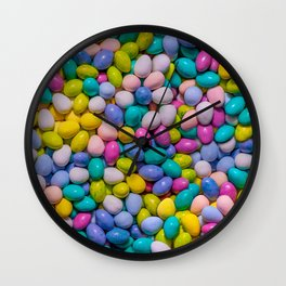 Mixed Candy Eggs Photo Pattern Wall Clock