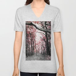 Pathway to Bliss Pink Unisex V-Neck