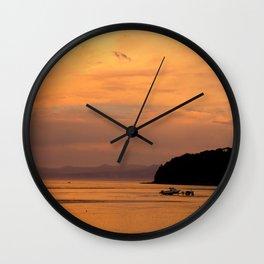 Golden Summer Wall Clock