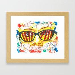 Orphan Black - Cosima DNA Glasses (Original Artwork Print) Framed Art Print