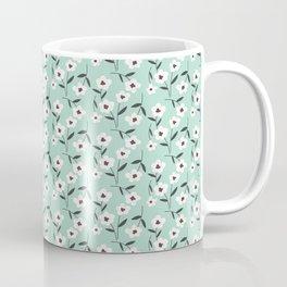 Black & White Floral | Aqua Coffee Mug