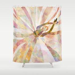 Sleeping Ballerina Floral - Gold Summer Palette Shower Curtain
