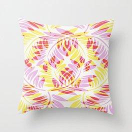 Warm Spring Fern Throw Pillow