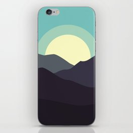 Minimal Mountain Night iPhone Skin