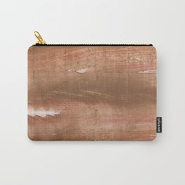 Sienna streaked wash drawing painting Carry-All Pouch
