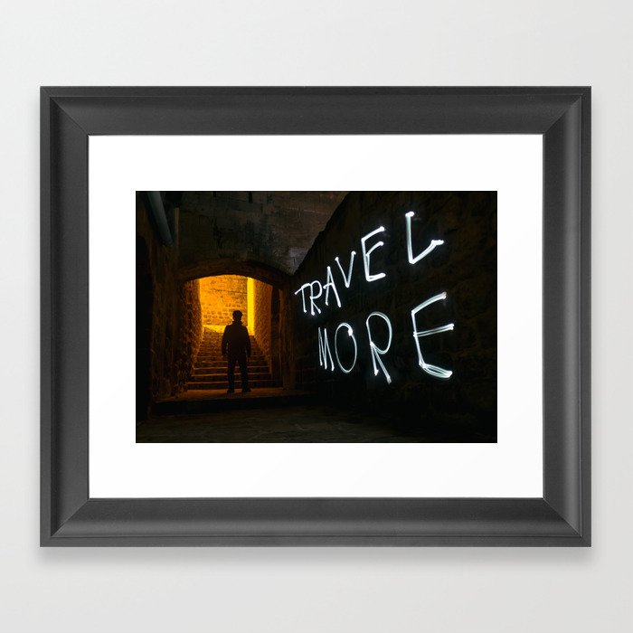 Travel More Framed Art Print