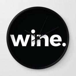 wine. Wall Clock