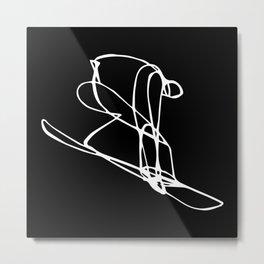 Poke It Out :: Single Line Metal Print