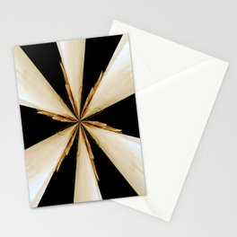 Black, White and Gold Star Stationery Cards