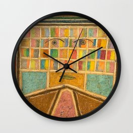 L'archéologue, Artificial Intelligence portrait by Victor Brauner Wall Clock