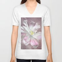 tulip V-neck T-shirts featuring Tulip by Paul & Fe Photography
