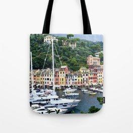 Portofino Harbour Italy Tote Bag