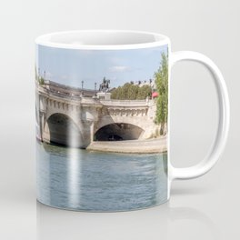 Boat traffic under the Pont Neuf - Paris, France Coffee Mug