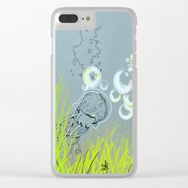 Squid Redone Clear iPhone Case