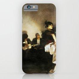 El Jaleo by John Singer Sargent - Vintage Fine Art Oil Painting iPhone Case
