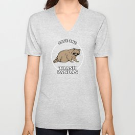 Save The Trash Pandas Unisex V-Neck