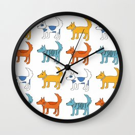 For the love of dogs Wall Clock