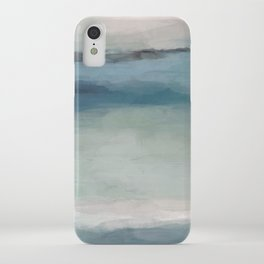Abstract Painting, Light Blue, Teal, Sage Green Prints Modern Wall Art, Affordable Stylish iPhone Case