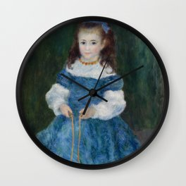 Girl with a Jump Rope (Portrait of Delphine Legrand) Wall Clock