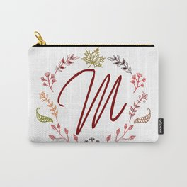 Floral M letter Carry-All Pouch