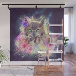 Space Owl with Spice Wall Mural